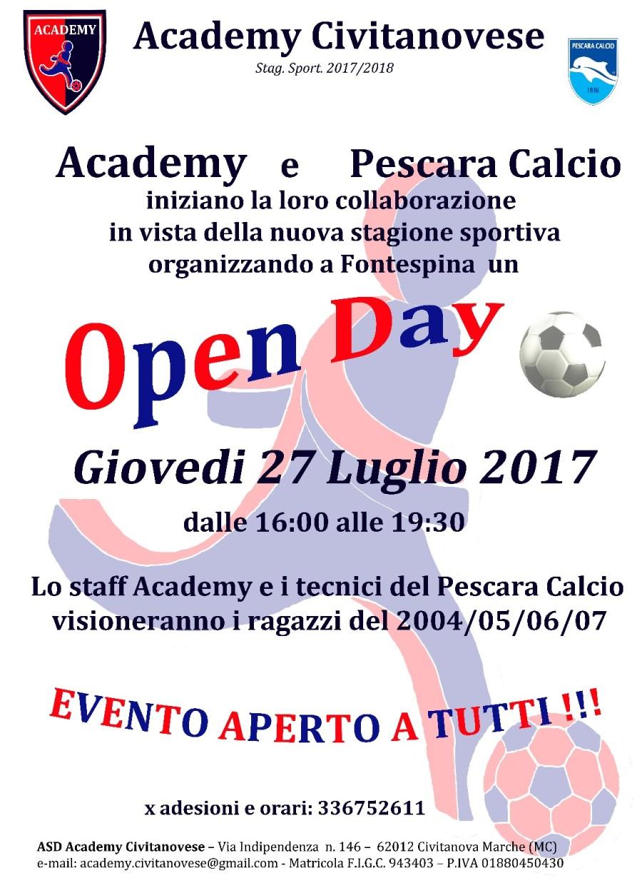 locandina Open day - 27 Luglio 2017 X SOCIAL